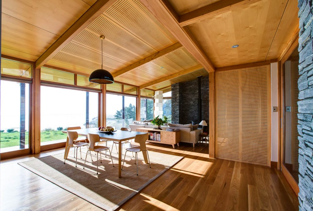 Wooden interior painting in Golden Bay, Tasman