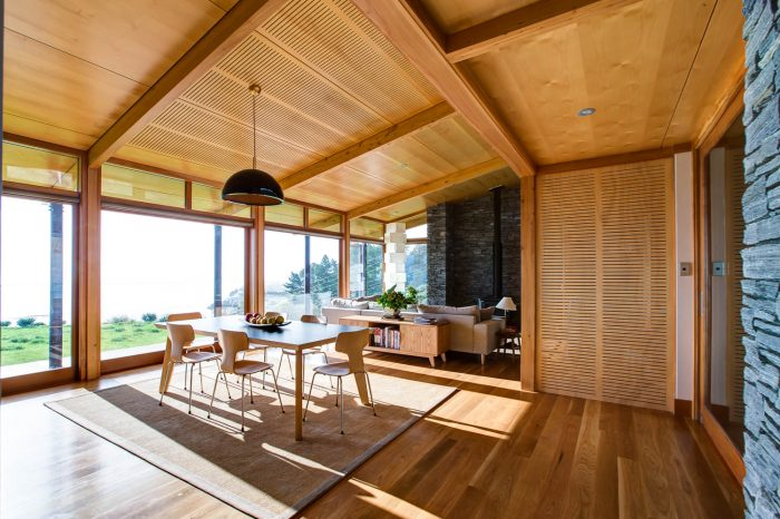 Wooden interior painting in Golden Bay, Tasman